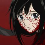 Like Blood+, Blood-C is a TV spin-off of Blood: The Last Vampire. Saya (seemingly an alternate reality version of the heroine of those other stories) is a simple girl, daughter of a priest, living in a remote mountain village. By day, she's sweet and shy, something of a klutz, and so bubbling over with goodwill that she bursts spontaneously into song (feel free to hit the fast forward button during those bits.). Her nights, though, are a tad more interesting: wielding a sacred sword, she…