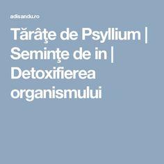 Tărâţe de Psyllium   Seminţe de in   Detoxifierea organismului