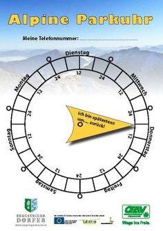 Da das Wetter im Moment für die ersten sonnigen Wanderungen des heurigen Jahres wirklich perfekt ist, möchten wir wieder die Alpine Parkuhr in Erinnerung rufen! Eine sinnvolle Idee finden wir - geht auch mit einem einfachen Stück Papier...   #wandern #weitwandern #weitwanderwege #sicherheit #tourenplanung #österreich #mehrtagestouren #alpineparkuhr - Die Alpine Parkuhr vom Österreichischer Alpenverein (OEAV) Portal, Park, Moment, Paper, Travel, Dire Straits, Travel Advice, Hiking, Parks