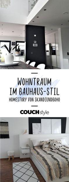 Bei Community-Mitglied SKANDIundBOHO trifft skandinavisches Design auf Boho-Elemente und Bauhaus-Stil!  #living #wohnen #wohnideen #einrichten #interior #COUCHstyle #bauhaus #homestory