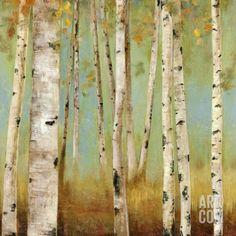 Eco I Kunstdruck von Allison Pearce bei AllPosters. Framed Art Prints, Framed Artwork, Fine Art Prints, Wall Art, Canvas Artwork, Birch Tree Art, Art Decor, Decoration, Guache