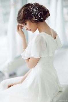 The lady takes a moment for her thoughts...~...