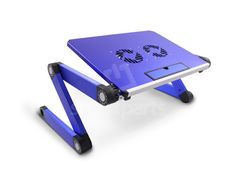Blue Laptop Table with Cooler