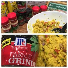 McCormick's herb grinders are the talk of the store when we used it to make this delicious (and healthy) Couscous Salad!