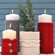1 bastelideen weihnachten kerzen wohnaccessoires knitting to give you a better service we recommend you to browse the content on our site. Noel Christmas, Rustic Christmas, Christmas Projects, Winter Christmas, Holiday Crafts, Elegant Christmas, Christmas Ideas, Office Christmas, Modern Christmas