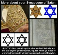 It is the star of remphan-just research. If it's Hebrew Israelite then why is the Catholic pope wearing it on his mitre????