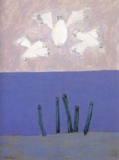 Milton Avery - Birds Over Sky - 1957