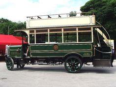 Todmorden 14 - 1921 Leyland G Phoenix side Double Decker Bus, Bus Coach, London Transport, Bus Station, Bus Driver, Busses, Vintage Coach, Old Trucks, Old Cars