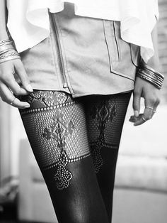 Lourdes Lace Tights by Erica M.