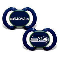 New! Seattle Seahawks Pacifier 2 Pack #SeattleSeahawks