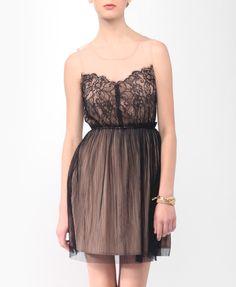 Blushing Mesh & Lace Dress | FOREVER21 - 2000047010