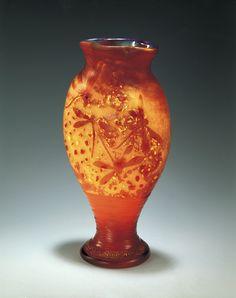 """Daum Vase """"Libellule et soleil"""" (1902)"""