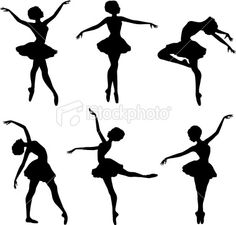 Ballerina Silhouettes Royalty Free Stock Vector Art Illustration