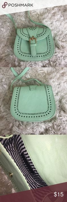 Charming Charlie's Small Crossbody Bag No stains, excellent condition. Used. Mint green. Charming Charlie Bags Crossbody Bags