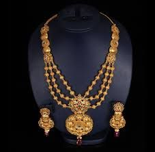 Hi all, Check the latest collections of gold haram designs for ramzan festival and also for aadi discounts/offers in inda. Gold Haram Designs, Silver Anklets Designs, Anklet Designs, Gold Bangles Design, Jewelry Design, Bridal Necklace, Bridal Jewelry, Gold Necklace, Necklace Set