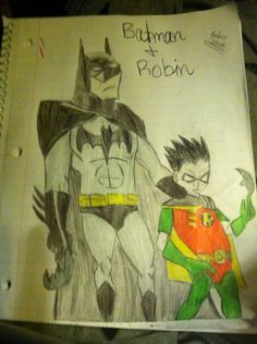 My colored pic. Of Batman and Robin. =D