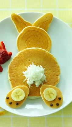 North end of a south-bound Easter Bunny pancake--too cute!