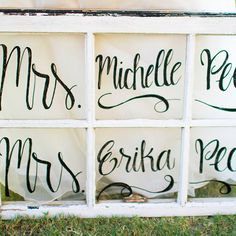 Brides.com: . Flaunt your new last name by adding calligraphy over old antique windows, a fun and easy DIY project for crafty brides, created by Kiley Bolster Manning and YOUnique Statements.
