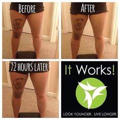 Want thinner thighs? Wrap em! www.mleuis.myitworks.com #thunderthighs #thighgaps #ItWorks #Wraps #Hydrate