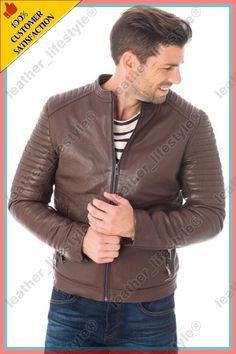 Lambskin Leather Jacket, Leather Skin, Leather Jackets, Sexy Men, Biker, Bomber Jacket, Stuff To Buy, Motorcycle, Coats