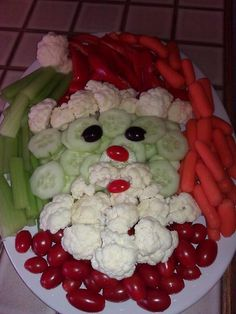 veggie santa | My Very First Pin: Veggie Santa | Food Ideas