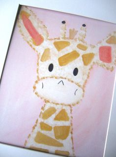 Nursery Art Print, Kids Wall Art, Nursery Decor, Harry the Giraffe, Baby Pink Decor Art Wall Kids, Nursery Wall Art, Girl Nursery, Nursery Decor, Pink Gold Nursery, Rock A Bye Baby, Animal Nursery, Nursery Design, Giraffes