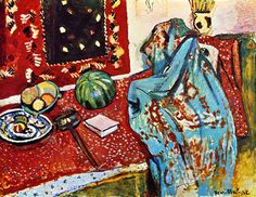 Henri Matisse Still Life with a Red Rug 1906 print for sale. Shop for Henri Matisse Still Life with a Red Rug 1906 painting and frame at discount price, ships in 24 hours. Henri Matisse, Matisse Kunst, Matisse Art, Raoul Dufy, Matisse Paintings, Oil Canvas, Post Impressionism, Red Rugs, French Artists