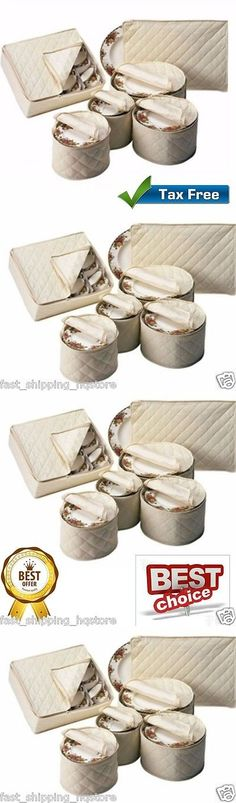 Other Kitchen Storage 11703: China Storage Set Of 6 Quilted Cases  Dinnerware Natural Keepers Fine