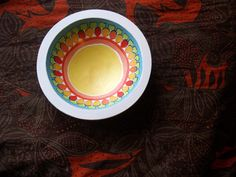 Decorative Handpainted Wooden Bowl with by EarlyMorningProjects