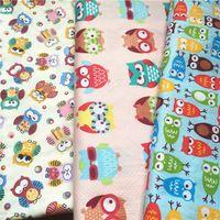 3 metri x 160 cm owls stampato panno di tessuto di cotone popeline tessuto patchwork per bambini biancheria da letto tessile tilda bambola cucito