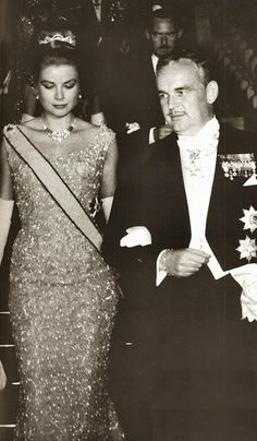 Prince Rainier and Princess Grace at King and Queen of Spain's wedding in Athens