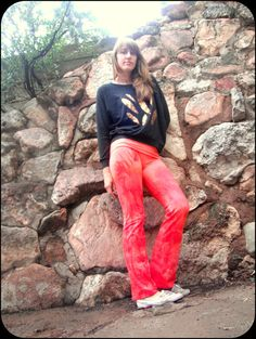 Salmon Pink Yoga Pants by MettaBody on Etsy, $50.00