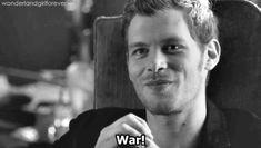"Klaus: War. #TheOriginals 1x03 ""Tangled Up in Blue"""