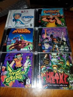Dreamcast Video Game Lot #retrogaming #HotDC  13 complete games: Floigan Bros. (new) Donald Duck Goin' Quackers Eighteen Wheeler Blue Stinger Nightmare Creatures II Evolution Evolution 2 Sonic Shuffle Jet Grind Radio Record of Lodoss War Stupid Invaders Magnetic Neo. Auction ends tomorrow. Heavy Metal Geomatrix