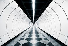 Photos Showing the Lines and Symmetry of Subway Stations