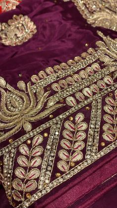 Hand Embroidery Design Patterns, Kurti Embroidery Design, Indian Embroidery, Embroidery Fashion, Latest Bridal Lehenga Designs, Bridal Blouse Designs, Velvet Dress Designs, Girls Dresses Sewing, Indian Wedding Photos