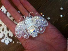 """Купить Брошь 3D """"Январский мотылек"""" - белый, насекомые, жук, насекомое, бабочка, мотылек, свадьба"""