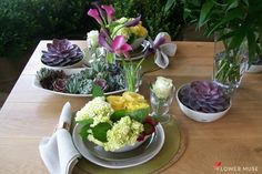 Feast of Flowers! From Flower Muse blog with tips for easy DIY arrangements for the home.