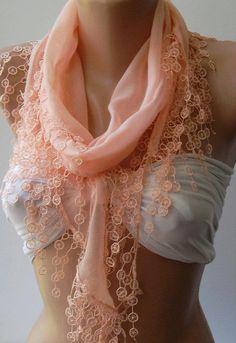 Salmon Pink  Cotton