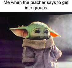 Funny memes of the day. If you are having a bad day, then check these top 44 funny pictures and Star Wars Baby, Ver Star Wars, Star Wars Meme, Yoda Funny, Yoda Meme, Fun Funny, Stupid Funny Memes, Funny Relatable Memes, Tableau Star Wars