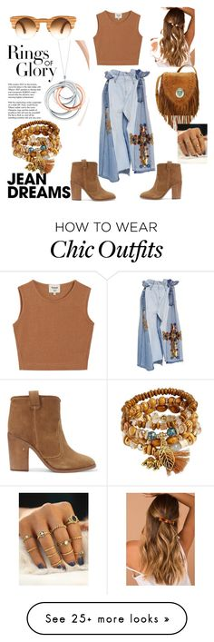 """""""Chic look"""" by kimeraki on Polyvore featuring Laurence Dacade, Samuji, Tiffany & Co. and denimskirts Chic Outfits, Tiffany, Clothing, Polyvore, How To Wear, Closet, Stuff To Buy, Shopping, Collection"""