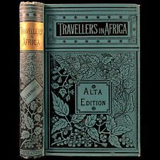 1890 AFRICA TRAVEL TRIBES BIG GAME HUNTING SHOOTING ILLUSTRATED FINE BINDING
