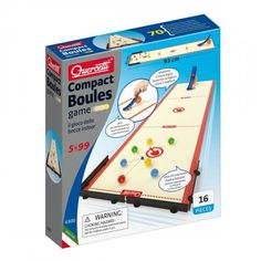Quercetti - Boules Game - Compact - 1136030 For Sale, Buy from Baby & Toddler Toys collection at MyDeal for best discounts. Outdoor Games, Toddler Toys, Compact, Play, Marbles, Children, Bowls, Mini, Products