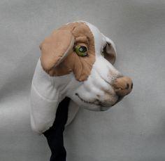 Golf club head cover Custom DOG portrait golf by Puppetsinabag