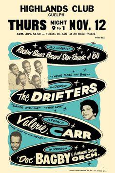 Drifters concert poster