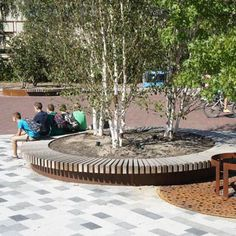 Wooden tree guard / with integrated public bench ROUND TREE ISLES Streetlife
