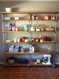 Just A Darling Life: a look into my house: kitchen shelving - a DIY Kitchen Pantry