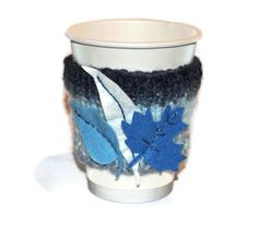 Handknitted Coffee Cup Couture 'Blue by Couturesilverandsilk, £6.00