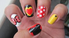 My homage to my lovely friend Jessica! Her nails are always so nice & her Minnie Mouse mani is one of my favorites of all the nails she's done; it's just so cute! She has a genuine love for nail art and continues to inspire me.