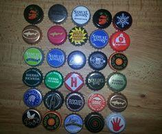 Assortment Of Craft Beer Bottle Caps